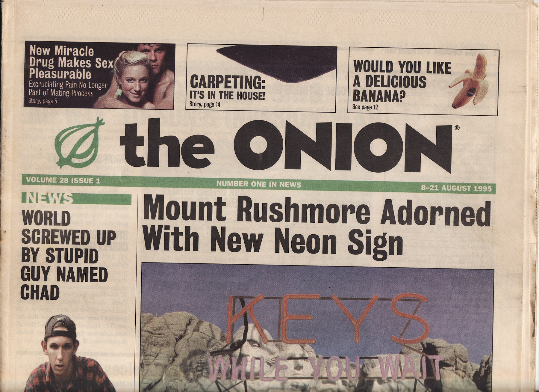 Area Woman Mourns Ironic Death: Remembering The Onion's newspaper days