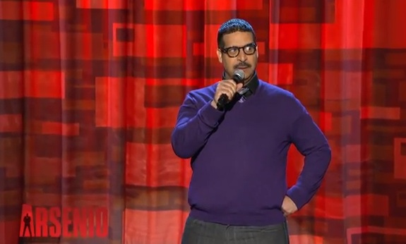 No apologies from Erik Griffin on The Arsenio Hall Show