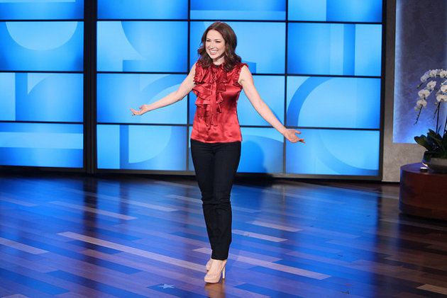 Ellie Kemper guest-hosted The Ellen DeGeneres Show on Friday