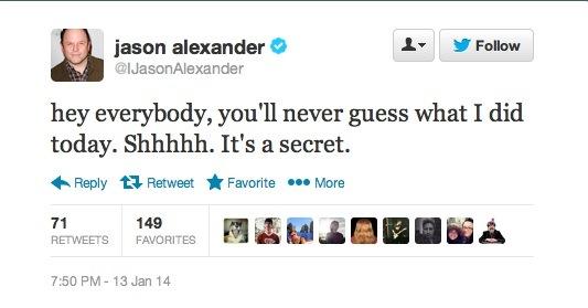 JasonAlexander-Seinfeld-2014-Tweet