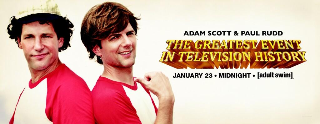 """Adam Scott and Paul Rudd re-enact Bosom Buddies for final """"Greatest Event in Television History"""" on Adult Swim, but which Bosom Buddies intro?"""