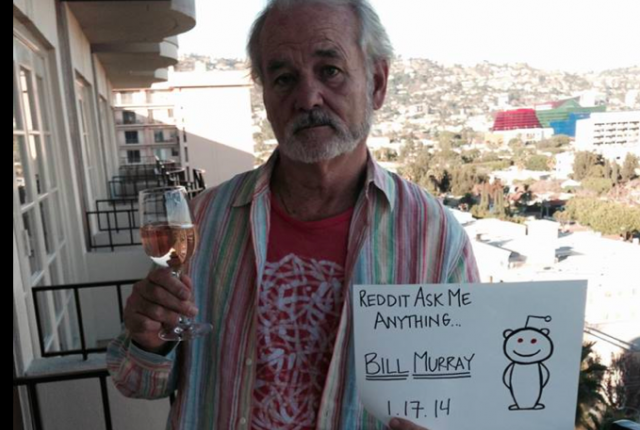 ICMYI: Bill Murray fielded questions from a Reddit AMA, which yielded these answers about comedy