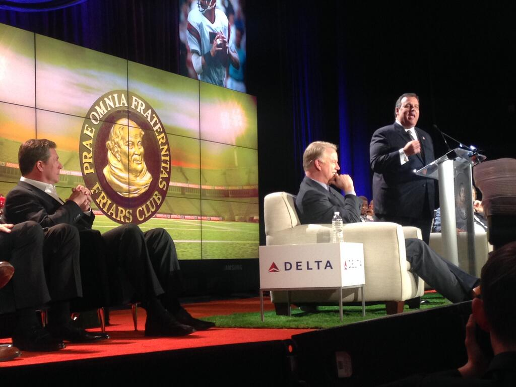 New Jersey Gov. Chris Christie Roasts Boomer Esiason at the annual Friars Club Roast