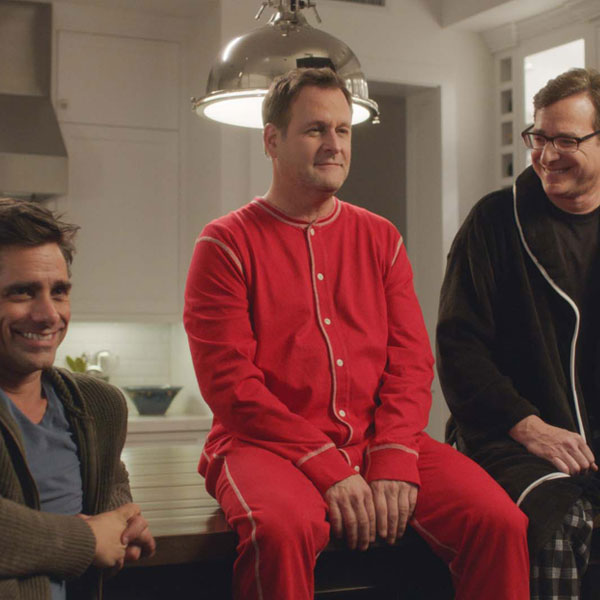 Full House reunion for Super Bowl commercial; Oikos yogurt lures Bob Saget, Dave Coulier to join John Stamos