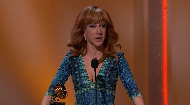 Kathy Griffin wins Best Comedy Album; Stephen Colbert, Steve Martin also win Grammys