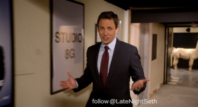 Seth Meyers moves next door to SNL literally for NBC's Late Night with Seth Meyers in 30 Rock's Studio 8G