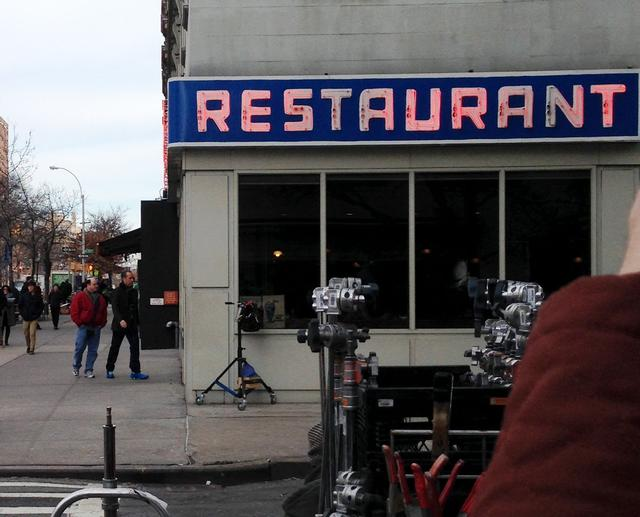 Documentary filmmaker of Tom's Restaurant scores footage of Jerry Seinfeld, Larry David and Jason Alexander filming a Super commercial