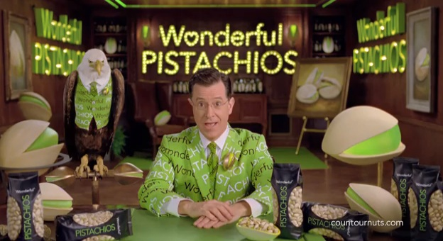 Stephen Colbert's Wonderful Pistachios Super Bowl commercial