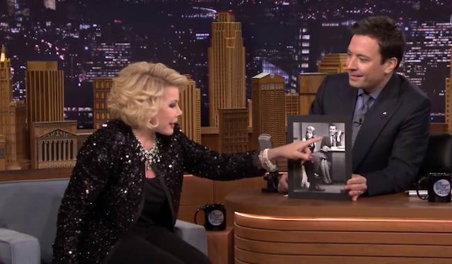 Joan Rivers returns to The Tonight Show as a guest for first time since ban dating back to the 1980s