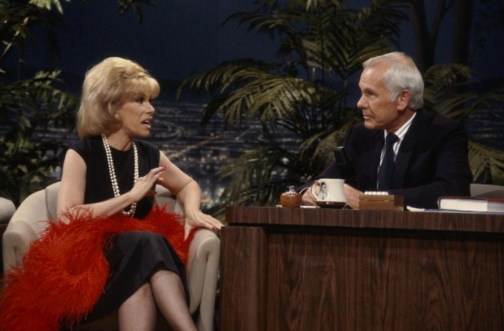 Joan Rivers on The Tonight Show Starring Johnny Carson, April 25, 1986.