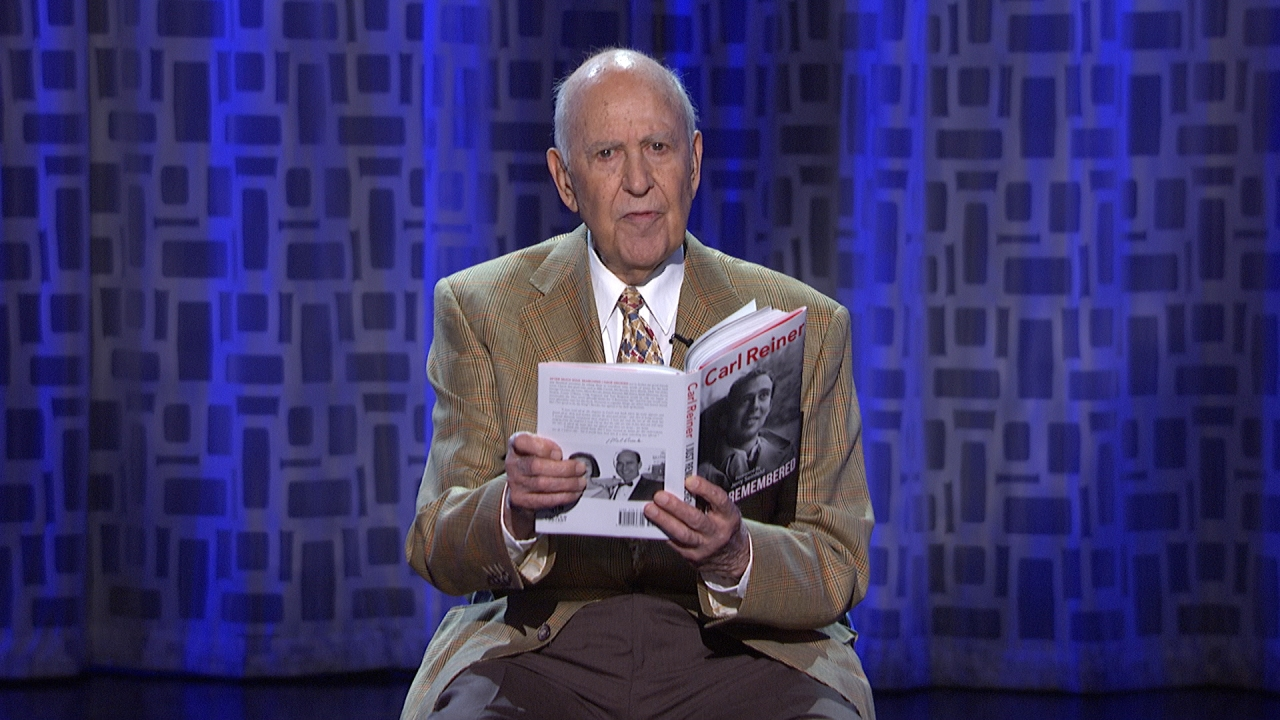 """Carl Reiner reads his 70-year-old poem, """"Ode To the Buttocks Bountiful,"""" on The Arsenio Hall Show"""