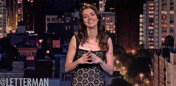 Carmen Lynch stands tall on Late Show with David Letterman