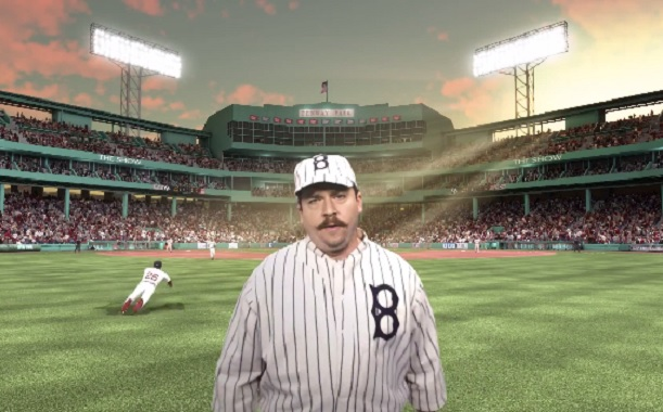 "Danny McBride is not Kenny Powers in this MLB 14 ""The Show"" video game ad"