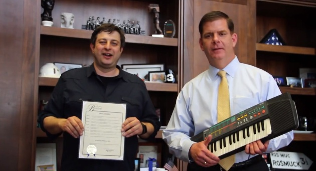 May 3, 2014: Eugene Mirman Day in Boston, by official proclamation of Mayor Marty Walsh