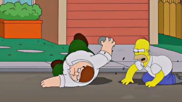"""Coming in September 2014: An hourlong TV special crossover, """"The Simpsons Guy"""""""