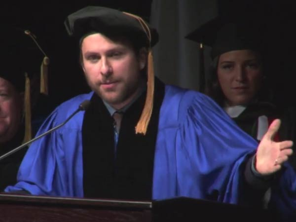 Charlie Day returns to Merrimack College to deliver 2014 commencement