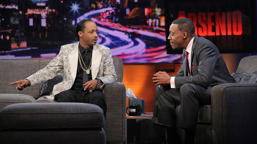 "Katt Williams revisits his ""retirement,"" freestyle raps, donates to Arsenio Hall's bid to buy the L.A. Clippers"