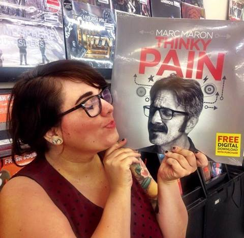 """Watch Marc Maron's """"Thinky Pain"""" vinyl record while listening to it?!"""