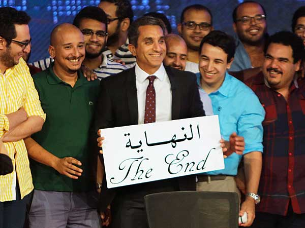 Egyptian elections, military might prompt Bassem Youssef's cancellation; but one final salute from The Daily Show with Jon Stewart