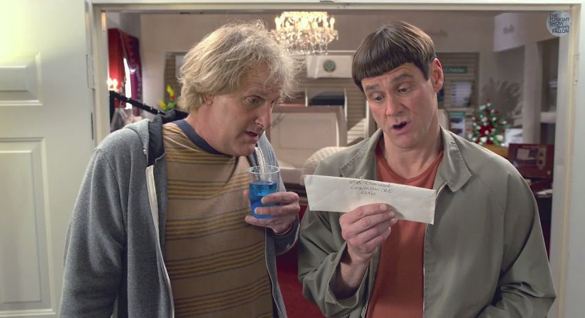 "The first movie trailer for ""Dumb and Dumber To"""