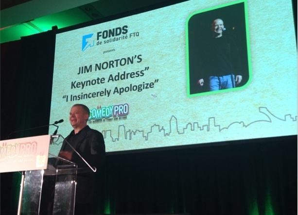 "Jim Norton's Keynote Address at Montreal's Just For Laughs 2014: ""I Insincerely Apologize"""