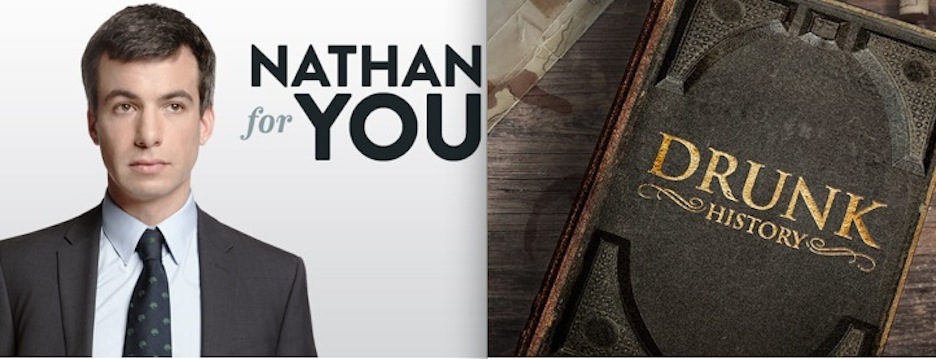 "Comedy Central renews ""Nathan For You,"" ""Drunk History"" for third seasons"