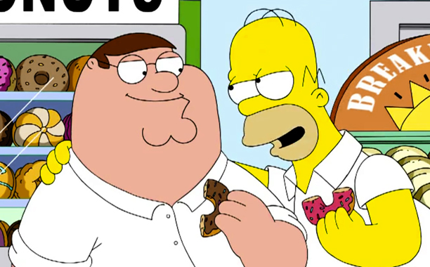 The Simpsons and Family Guy crossover at 2014 Comic-Con panels and in September on FOX