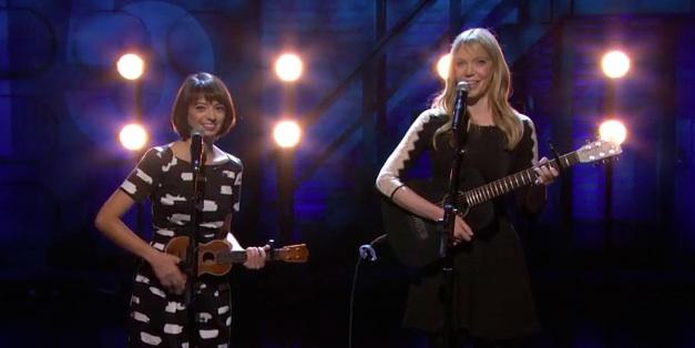 "Garfunkel and Oates perform ""The Fade Away"" on Conan"