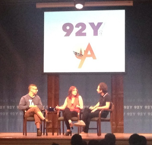 "Vanessa Bayer and her brother, Jonah, share ""Sound Advice"" with fun.'s Jack Antonoff at 92Y"