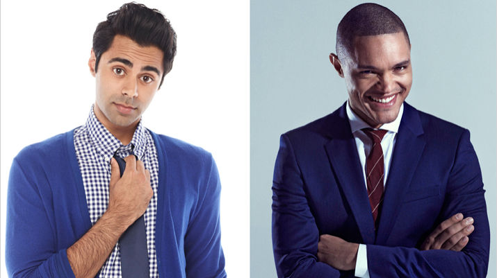 The Daily Show with Jon Stewart hires Hasan Minhaj and Trevor Noah as correspondents