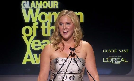 Amy Schumer remembers Joan Rivers at the 2014 Glamour Women of the Year Awards