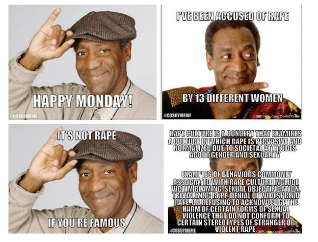 The night Bill Cosby learned No Memes No #CosbyMeme