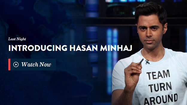 Hasan Minhaj's debut on The Daily Show with Jon Stewart