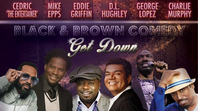"""Cedric the Entertainer, Mike Epps, Eddie Griffin, D.L. Hughley, George Lopez and Charlie Murphy mount """"Black & Brown Comedy Get Down"""" tour"""