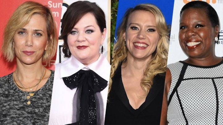 Your Ghostbusters rebooted, ladies! Kristen Wiig, Melissa McCarthy, Kate McKinnon, Leslie Jones