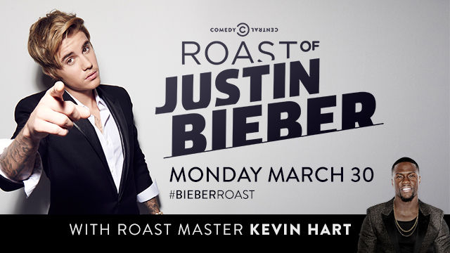 The Comedy Central Roast of Justin Bieber will air on March 30, presided over by Roast Master Kevin Hart