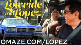 George Lopez goes undercover as a lowrider Lyft driver for charity