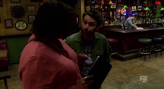 "The long tracking shot from ""Charlie Work"" episode of It's Always Sunny in Philadelphia"