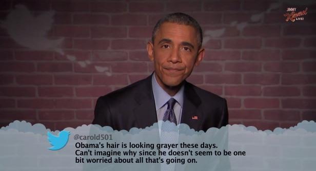 """President Barack Obama reads """"Mean Tweets"""" on Jimmy Kimmel Live"""