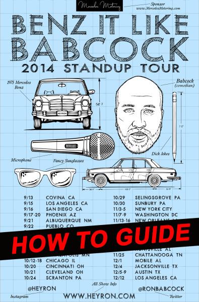 BenzItLikeBabcock-2014standuptour