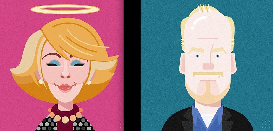 Comics of Comedy, a graphic design project by Bill Dawson