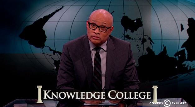 "Larry Wilmore on The Nightly Show says all of the bad words and slurs in ""Knowledge College"""