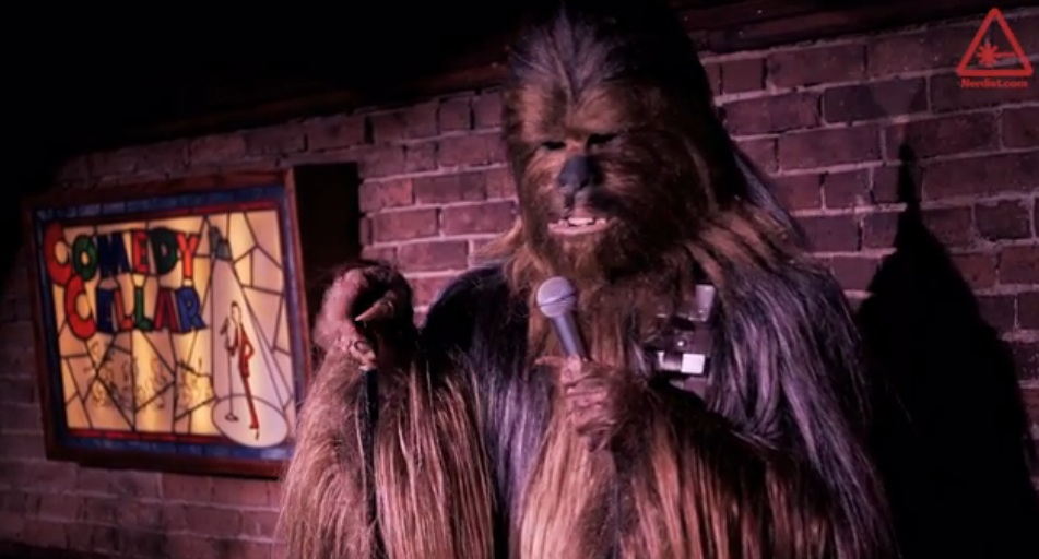 "Finally, that Chewbacca tribute to ""Louie"" as ""Chewie"" you've been waiting for"