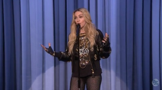 Madonna on The Tonight Show Starring Jimmy Fallon
