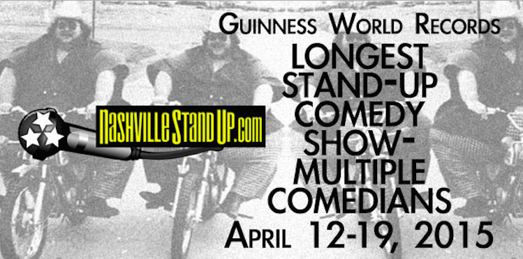 """Nashville comedians attempting eight-day """"world record"""" continuous comedy show"""