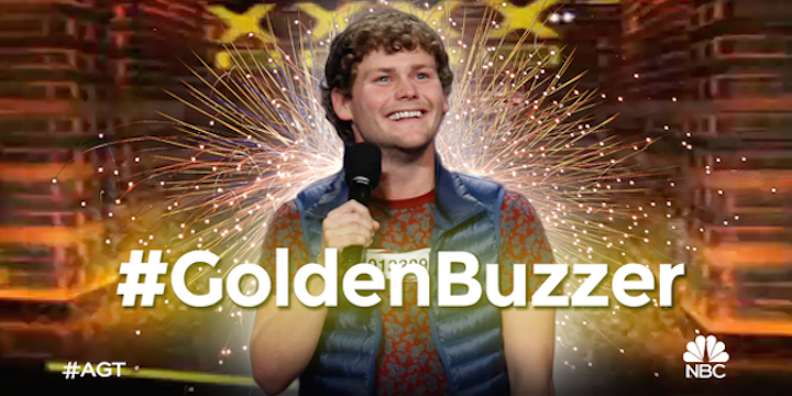 "Drew Lynch's audition for America's Got Talent 2015 earns him ""Golden Buzzer"" straight to Radio City Music Hall"
