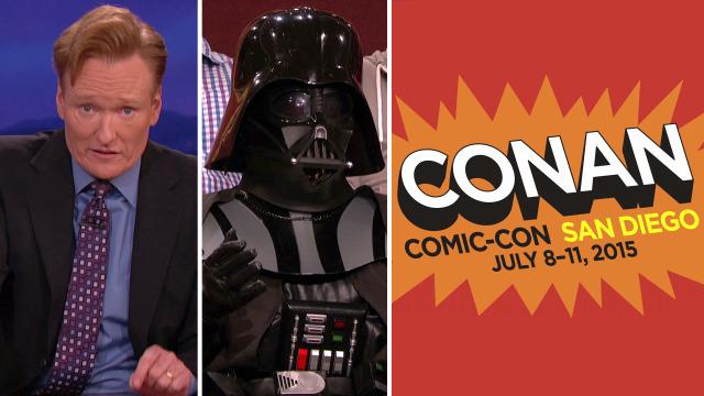 "Conan O'Brien and Team Coco filming ""Conan"" at Comic-Con 2015 from Wednesday-Saturday"