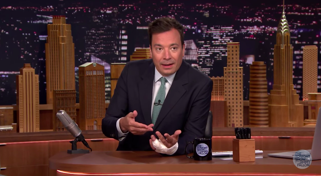 Jimmy Fallon explains finger injury upon return to The Tonight Show