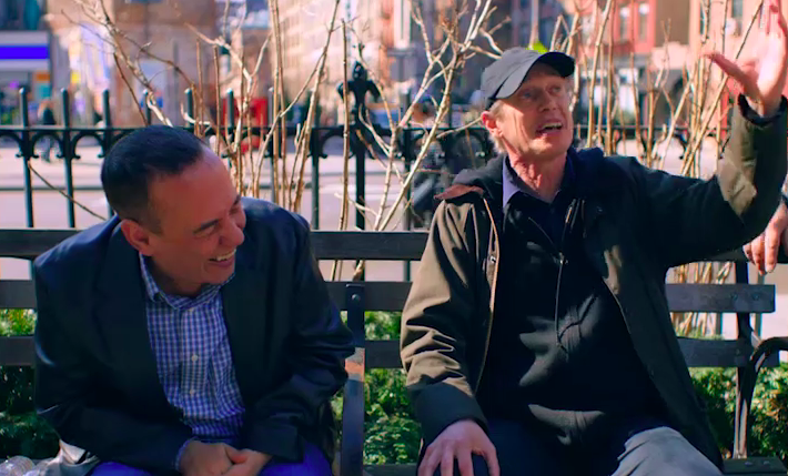 "Sneak peek: Steve Buscemi's ""Park Bench"" interview with Gilbert Gottfried gets interrupted from high above"