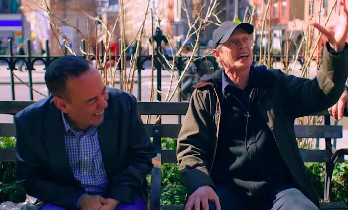 """Sneak peek: Steve Buscemi's """"Park Bench"""" interview with Gilbert Gottfried gets interrupted from high above"""